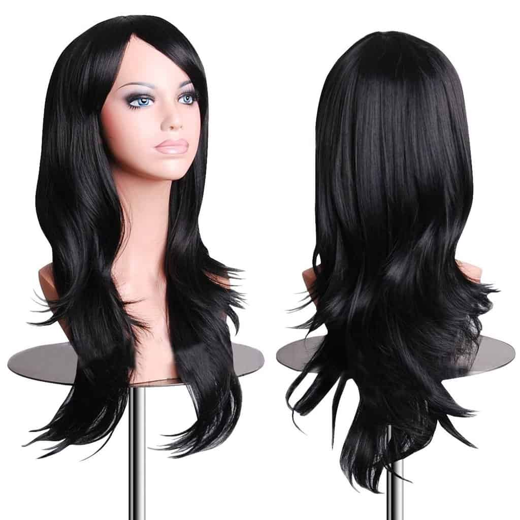 EmaxDesign Wigs 28 Inch Cosplay for Women with Wig Gap and Comb